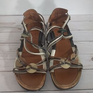 👠👠👠 Brown genuine leather sandals by Romika